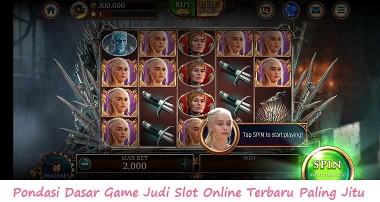 Pondasi Dasar Game Judi Slot Online Terbaru Paling Jitu